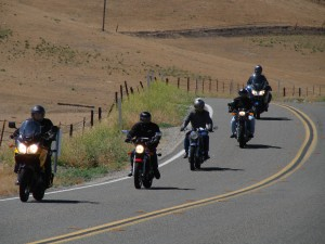 Southern California Norton Owner's Club Cambria Ride on Hwy 41 near Creston, CA